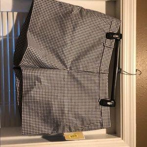 Calvin Klein blue and white checkered pants